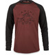 Dakine Dropout Fietsshirt lange mouwen Heren rood/zwart